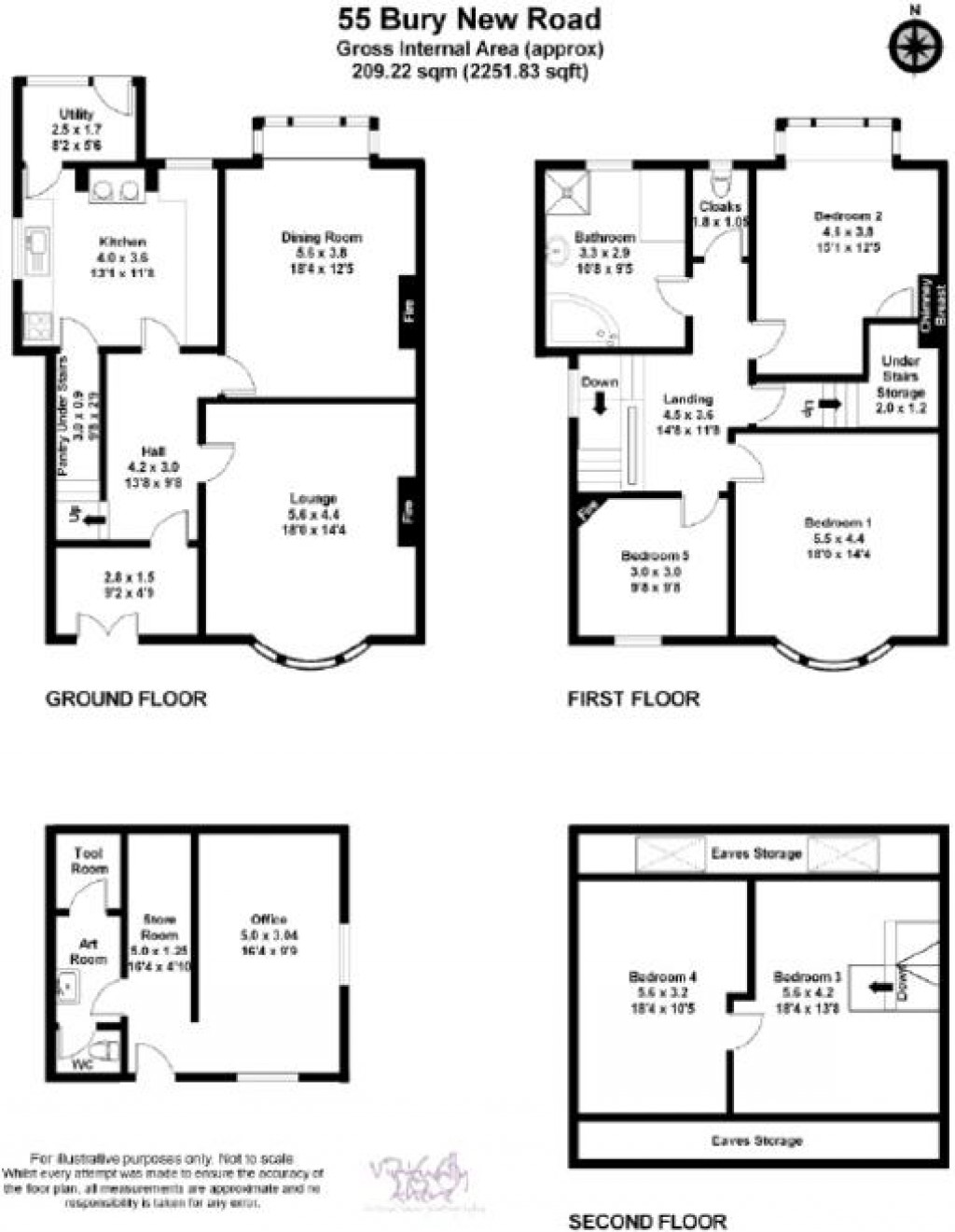 Floorplans For Bury New Road, Ramsbottom, Bury